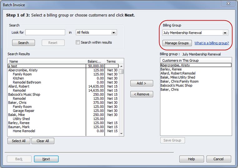 Batch Invoicing New In QuickBooks Long For Success LLC - Quickbooks invoice fees