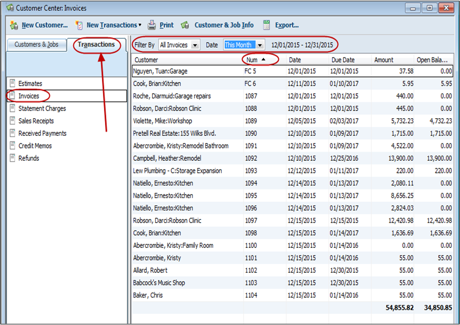 QuickBooks Tip Quick Report On Transactions Long For Success LLC - Quickbooks invoice list report