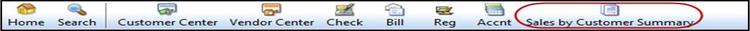 QuickBooks icon bar