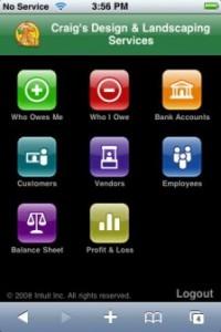 QuickBooks online iPhone