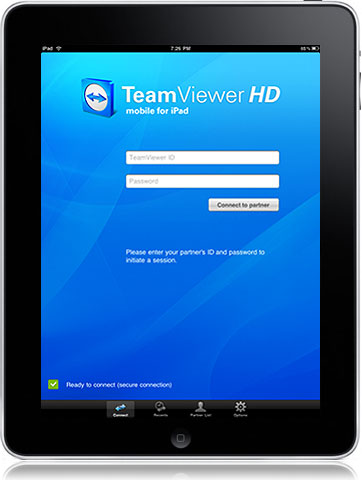 how to use teamviewer on ipad
