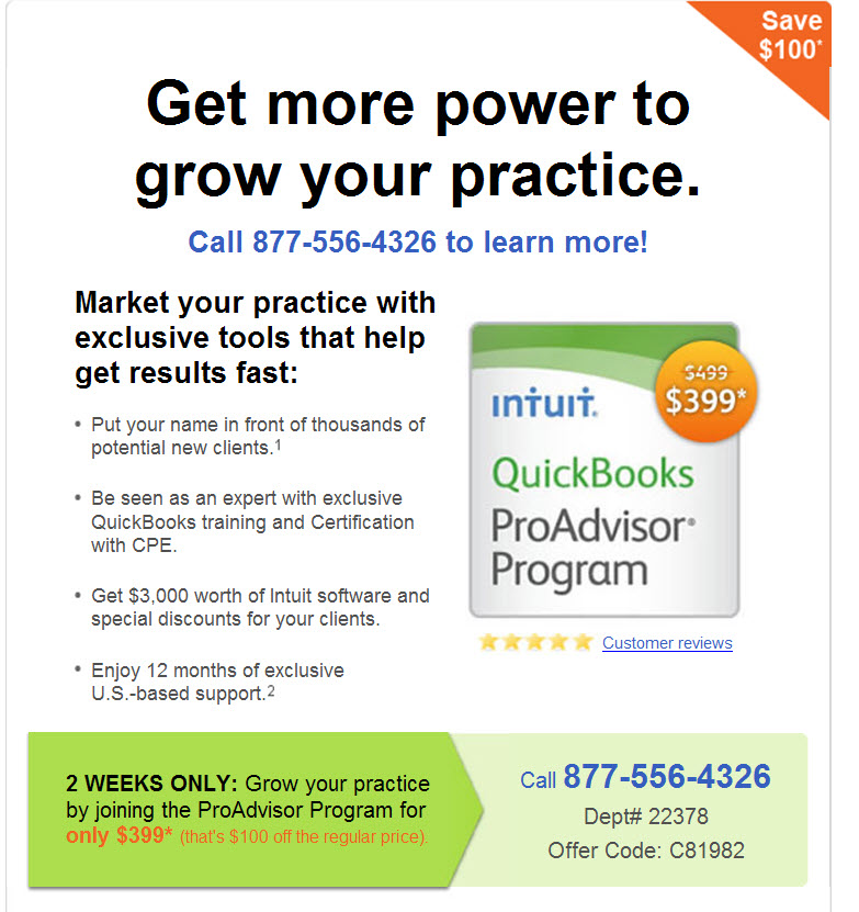 ProAdvisor Program Discount
