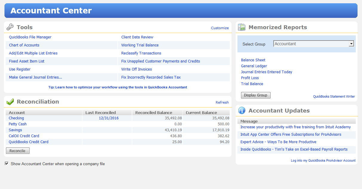 intuit quickbooks accountant 2012 - tools to help improve productivity and efficiency