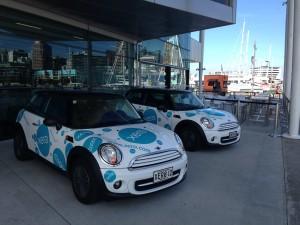 Xero Mini Coopers at Xerocon in Auckland