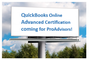 QuickBooks Online ADVANCED certification!